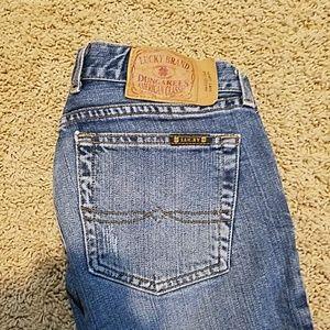 Women's Lucky Brand size 27/4 Maggie Long Length